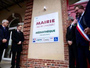 Mairie et médiathèque de Montreuil l'Argilé dans l'Eure
