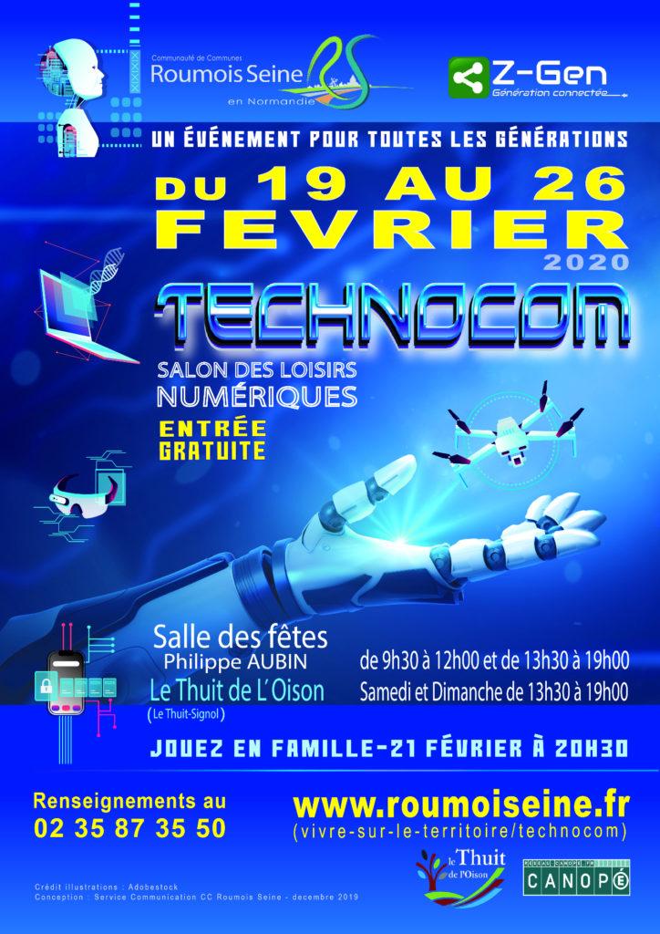 Affiche de l'événement couleur bleue