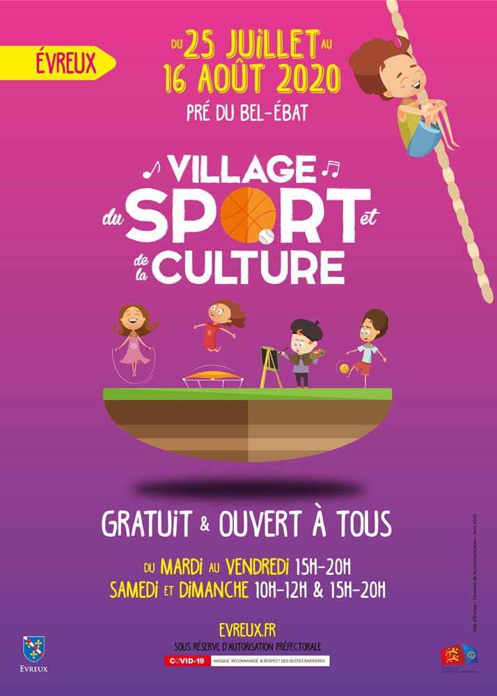 Affiche du village des sports d'Evreux 2020