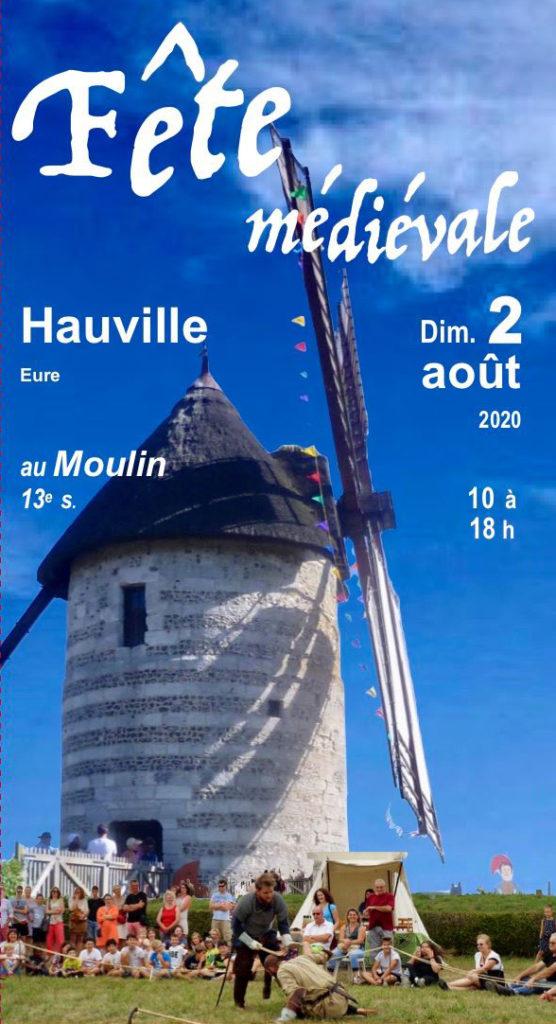 Affiche de la fête médiévale d'Hauville 2020