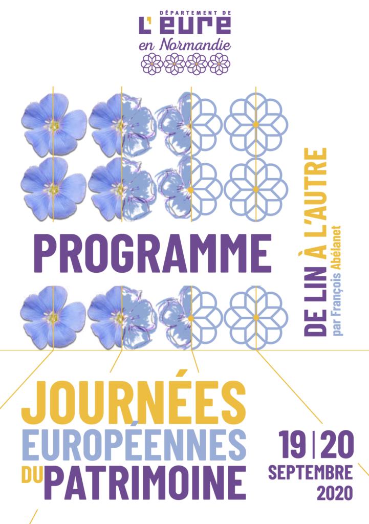 Affiche des JEP 2020 dans l'Eure