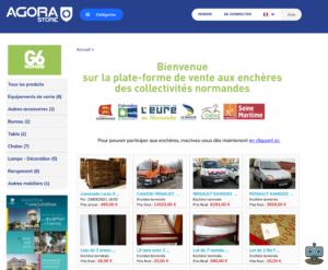 Page d'accueil du site agorastore.fr