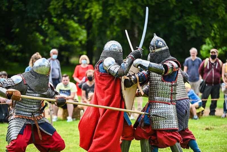 medievales au chateau d'harcourt dans l'eure