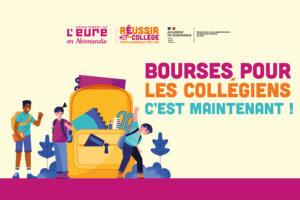 visuel de la campagne d'information 2021 sur les bourses des collegiens eurois
