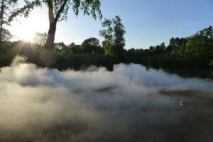 """Oeuvre ephemere de """"nuages"""" par Anne Blanchet"""