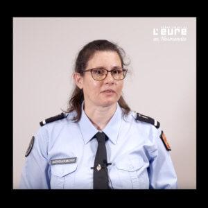 Portrait de Claire Caens, adjudante-cheffe