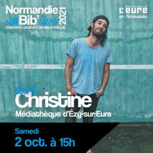 Affiche Normandie Bib Live pour le concert de Christine