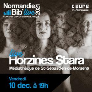 Affiche Normandie Bib Live pour le concert de Horzines Stara