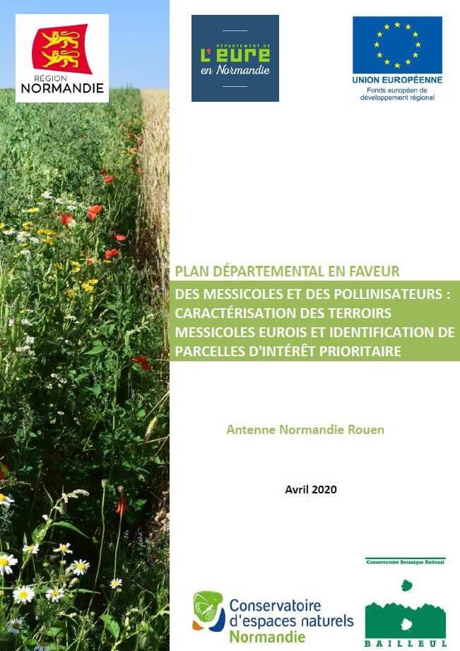 couverture du plan departemental en faveur des messicoles et des pollinisateurs