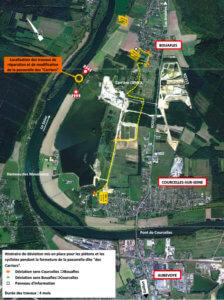 plan de la deviation enter Bouafles et Courcelle-sur-Seine