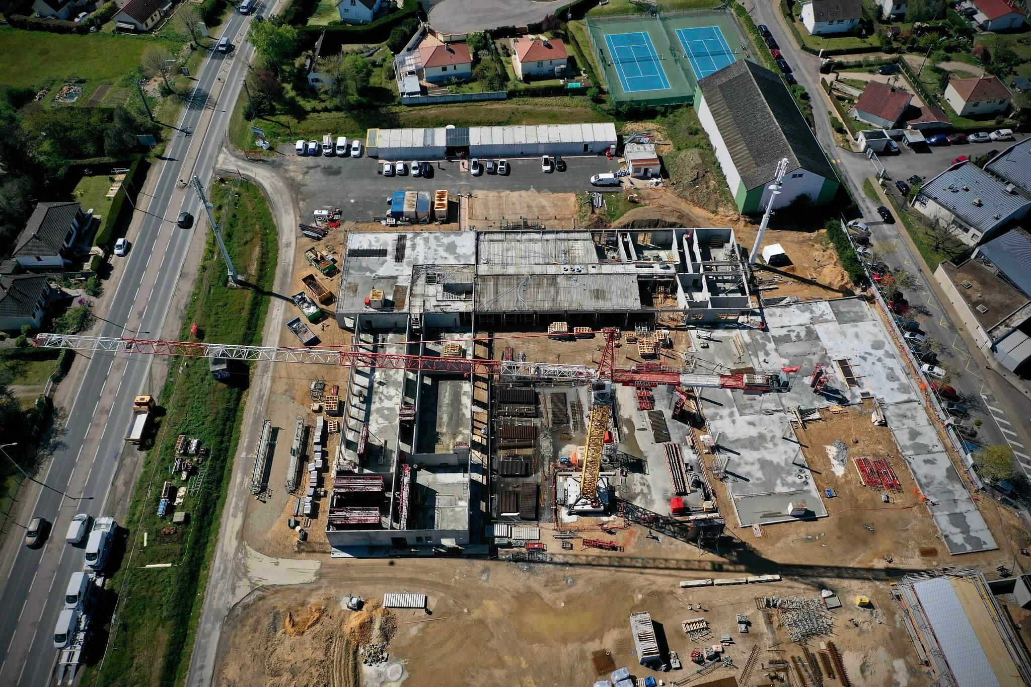 illustrer le chantier de constructin dun college